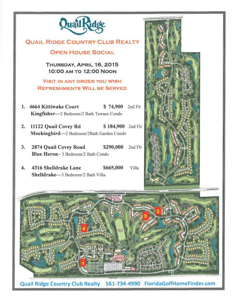April open house map